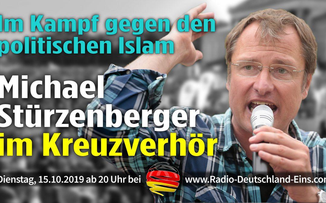 Michael Stürzenberger Kreuzverhör Islam Bürgerbewegung PAX Europa Interview Sendung - Radio Deutschland Eins